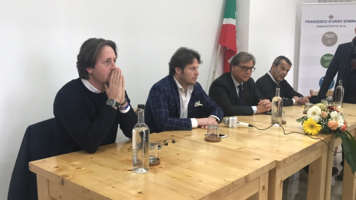 da sinistra Manlio Messina, Francesco D'Urso Somma, Giovanni Pistorio, Nino Strano